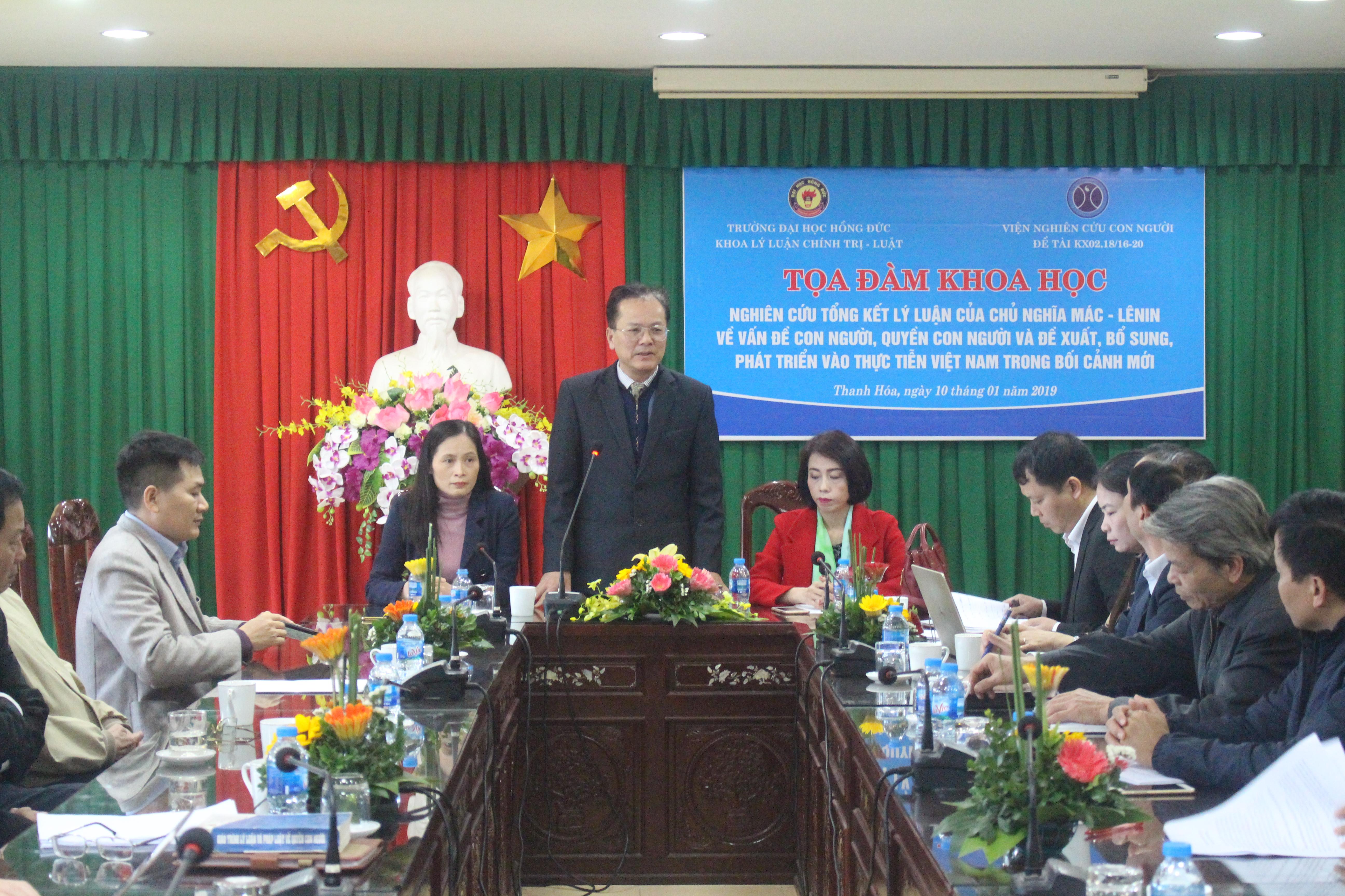 Nghiên cứu, tổng kết lý luận của lý luận Chủ nghĩa Mác - Lê nin về vấn đề con người, quyền con người và đề xuất, bổ sung, phát triển với thực tiễn Việt Nam trong bối cảnh mới